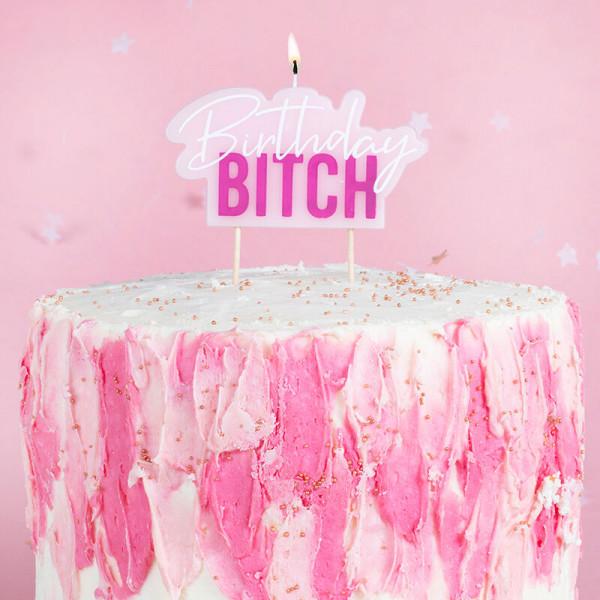 Kerze Birthday Bitch