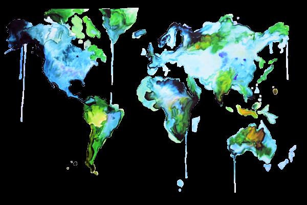 Gästebuch Weltkarte