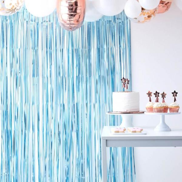 Backdrop | Blau Metalic