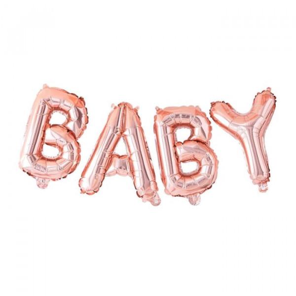 Baby Ballon Girlande Kupfer