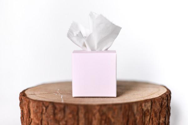 Freudentränen Box zart rosa