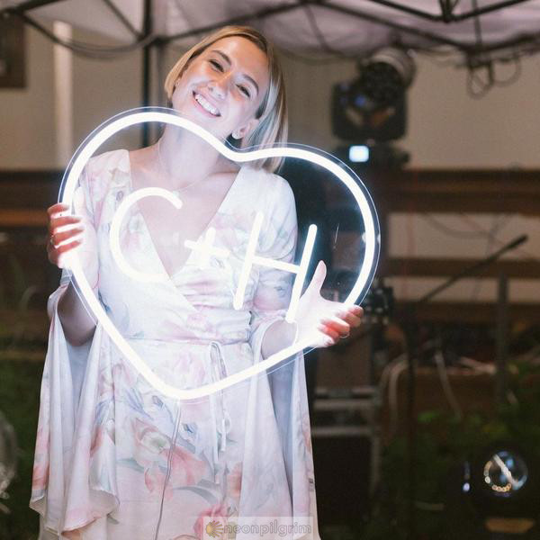 LED Schild Herz Personalisiert