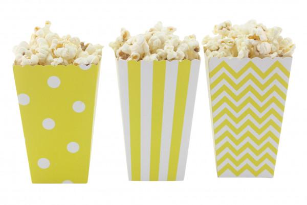 Popcorn Boxen gelb