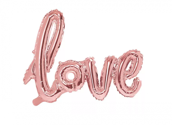Love Ballon Rosègold