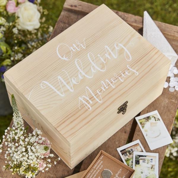Gästebuch Hochzeit Holz