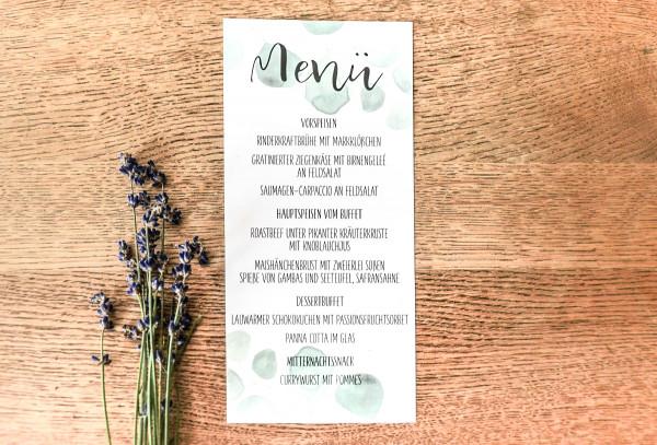 Menü Karte Hochzeit