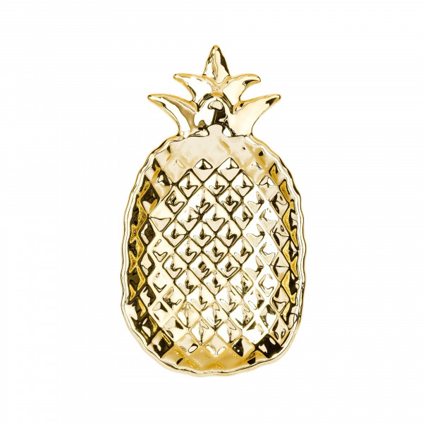 Ananas Schale Gold