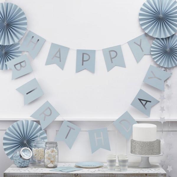Geburtstags Girlande Blau