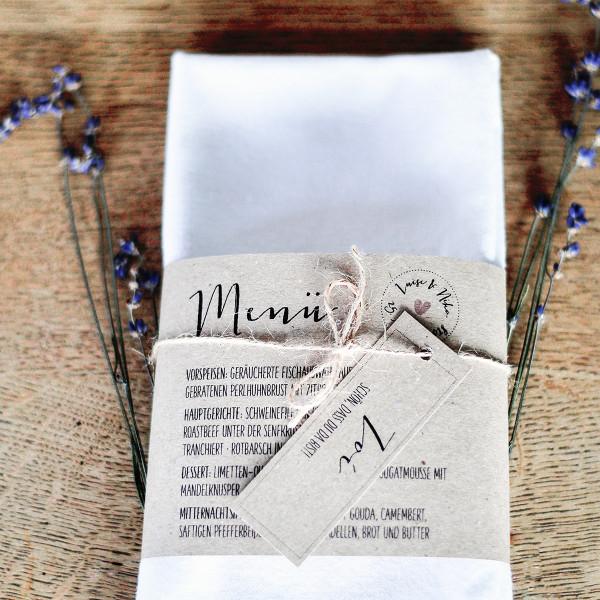 "Menü Karte ""Eukalyptus"""
