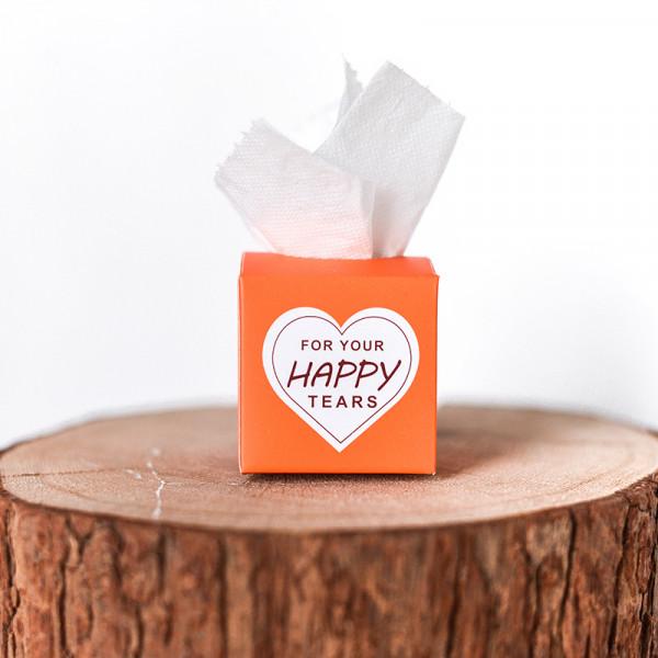 Freudentränen Taschentücher orange