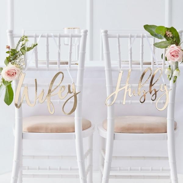 Stuhldeko Hochzeit | Wifey & Hubby