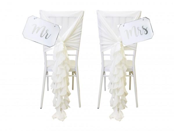 Stuhlhusten weiß-creme Set