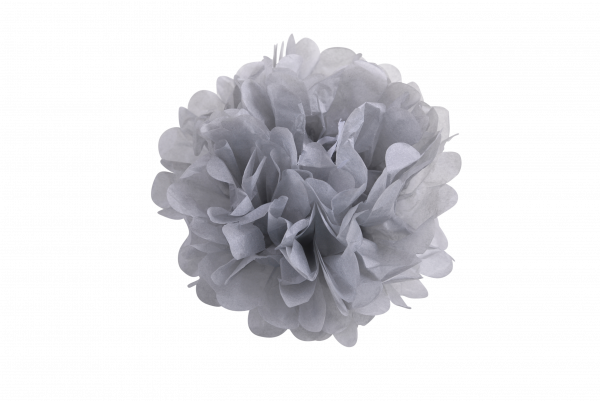 Pompoms grau Seidenpapier | Pompoms 10er Set
