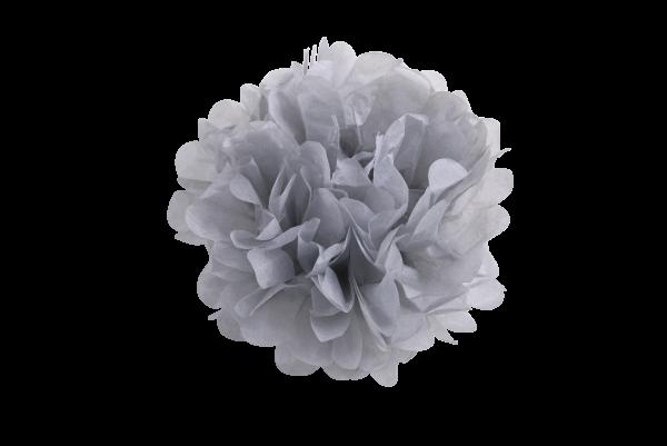Pompoms grau Seidenpapier |Pompoms 10er Set