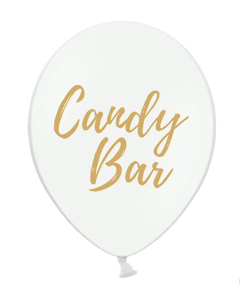 Candy Bar Ballons Weiß 10er