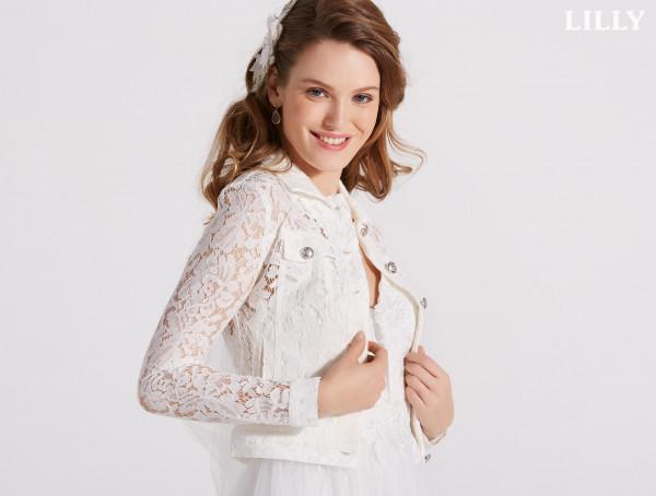 Hochzeit's Jacke mit Spitze