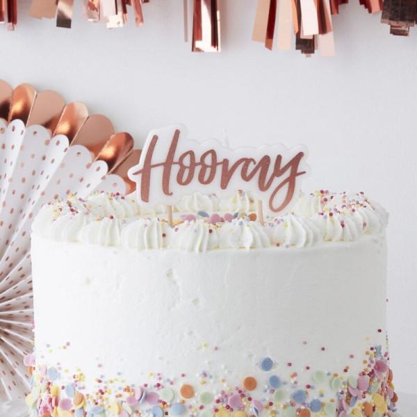 Geburtstags Kerze Hooray