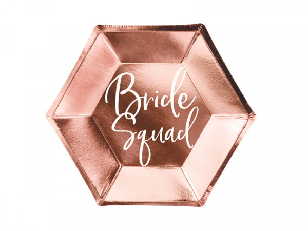 Pappgeschirr Bride Squad