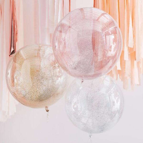 Glitzer Ballon Durchsichtig