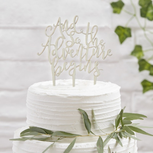 Cake Topper Boho Vintage Marry You