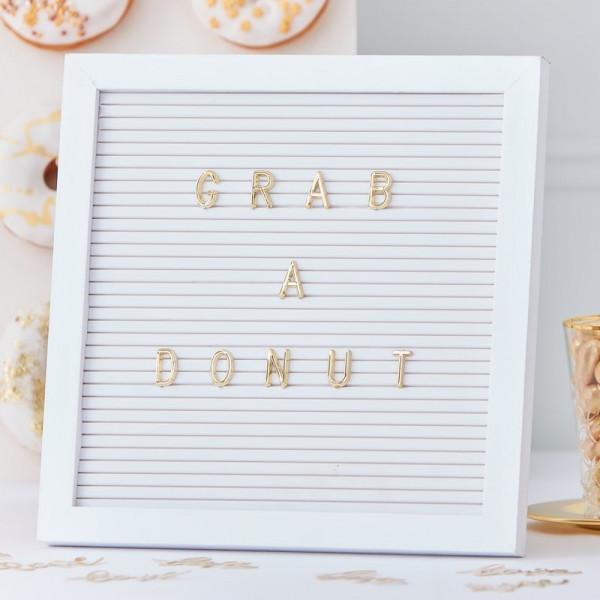 Pin Board mit Buchstaben | GOLD