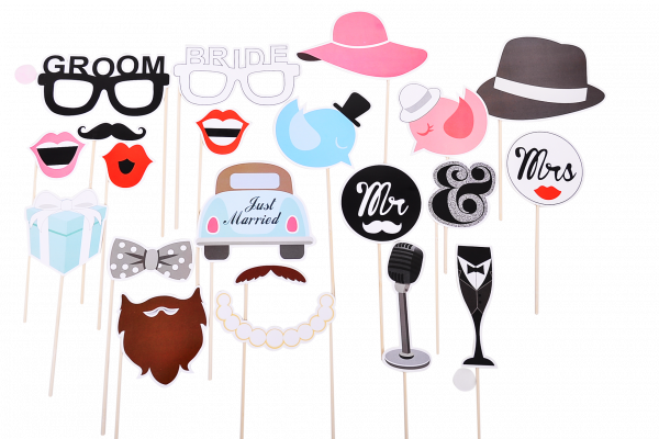 Photo Booth Hochzeit | Photo Booth Props | Just Married