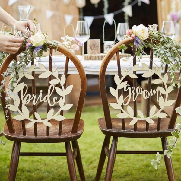 Stuhldeko Hochzeit Vintage