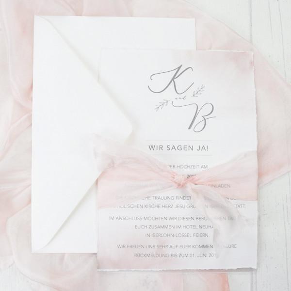 Einladungskarte | Zarte Liebe