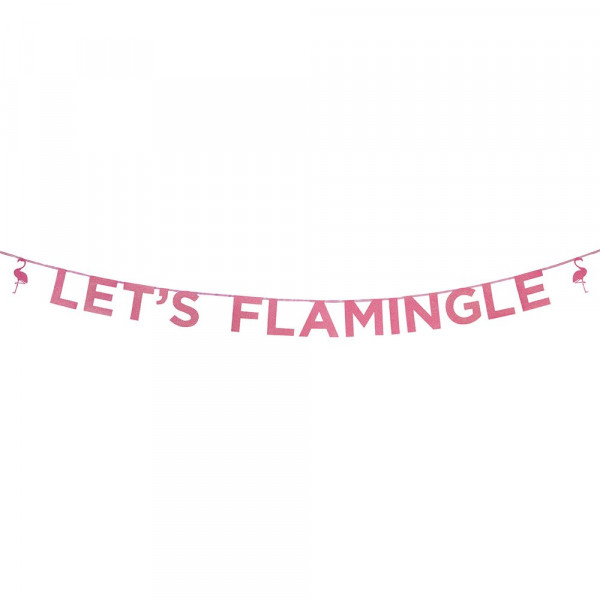 "Girlande ""Let's Flamingle"""