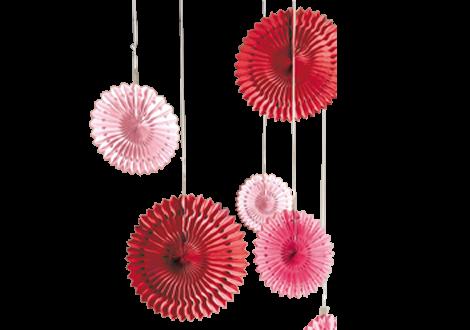 Fächer Lampions Rosé