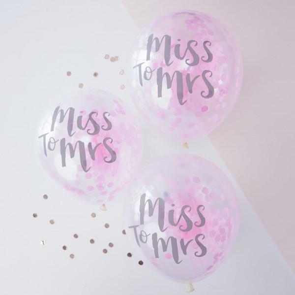 Hochzeit Ballons, Luftballon Hochzeit Miss to Mrs.