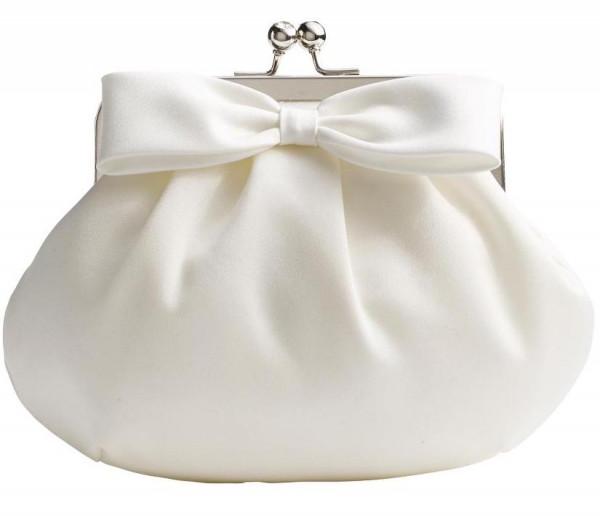 Brauthandtasche mit Schleife