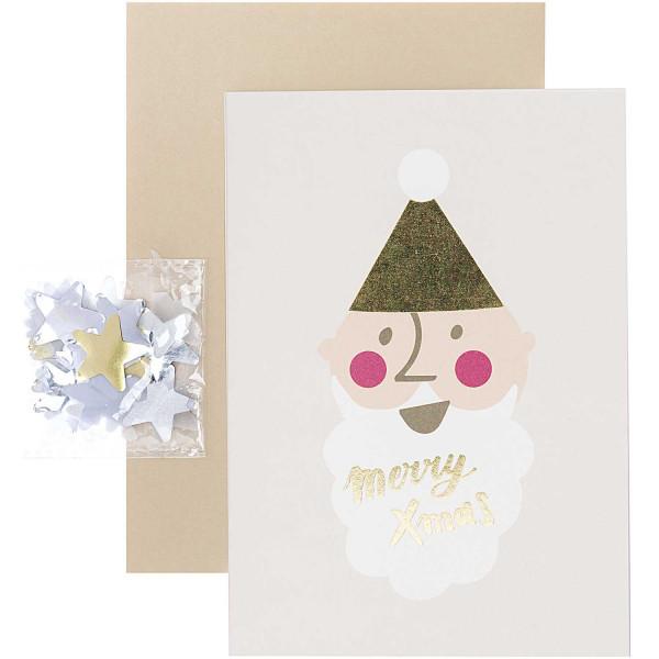 Weihnachtskarte Santa