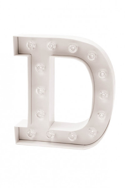 LED Buchstabe D | LED Deko | Wedding & More | Marry & You