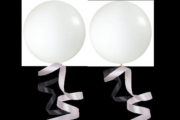 Riesen Ballon mit Seiden Schnur 2er set