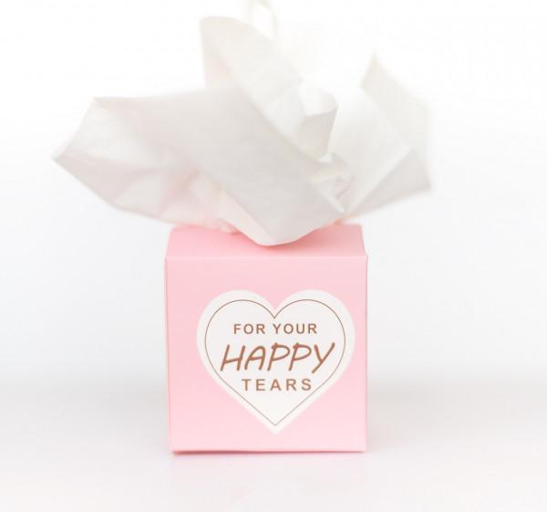 20 Freudentränen Boxen rosa
