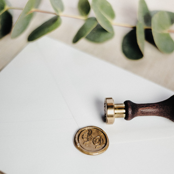 Hochzeitssiegel mit Monogramm