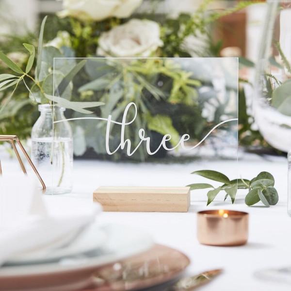 Acryl Tischnummern 1-12