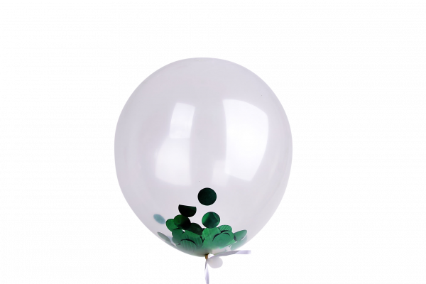 Green Konfetti Ballon 10er Set