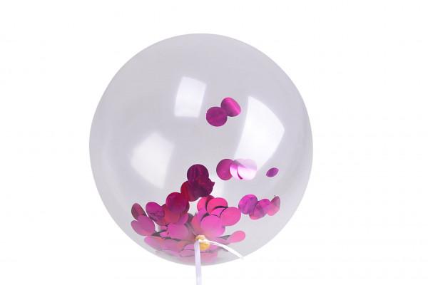 Pink Konfetti Ballon 10er Set