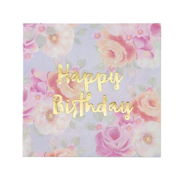 Happy Birthday Servietten