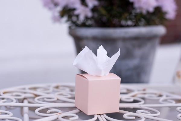 Freudentränen Taschentücher Box Peach