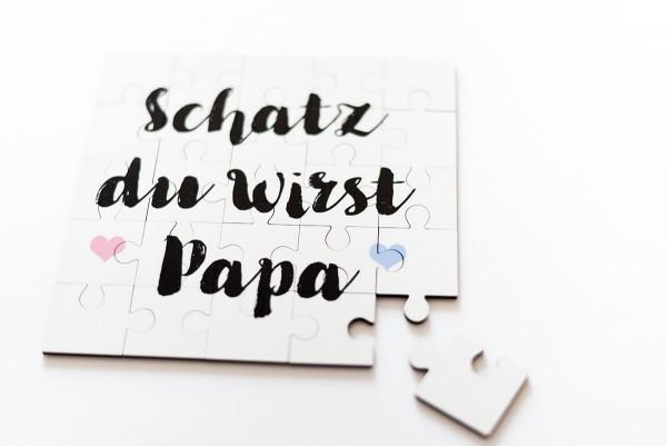 """Puzzle """"Du wirst Papa"""""""