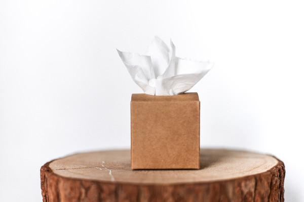 Freudentränen Taschentücher Boxen Jute