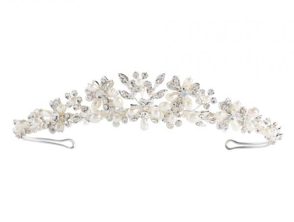 Tiara mit Perlen