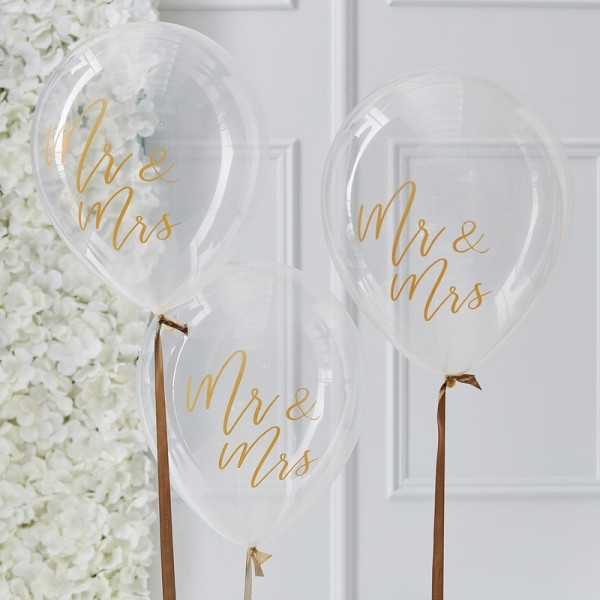 Ballon Mr & Mrs 5er set