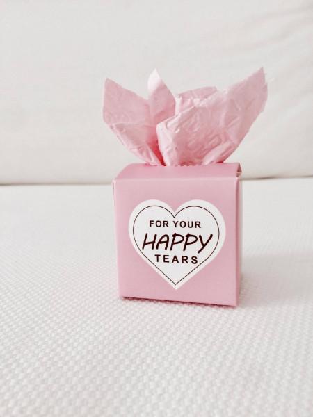 100 Freudentränen Boxen rosa |Für Freudentränen DIY