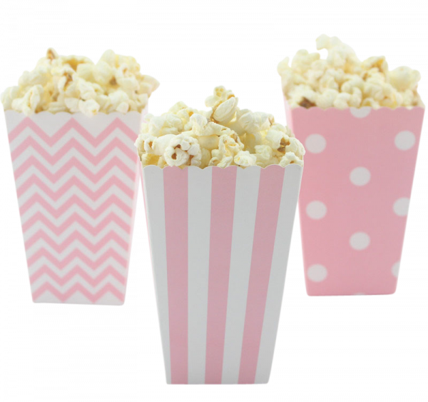 Popcorn Tüten kaufen | Popcorn Behälter | 20er Box | rosa