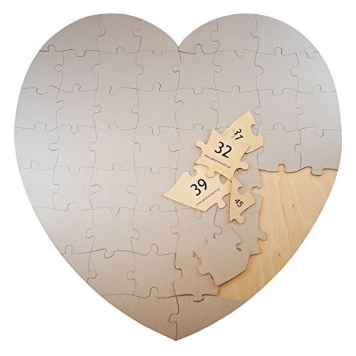 Herz Puzzle |zum selbstbemalen