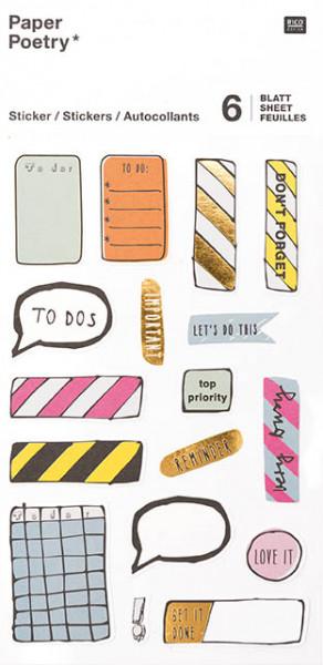 Einhorn Agenda Sticker